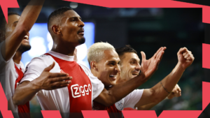 Ajax celebrating another goal during the 2021/22 campaign
